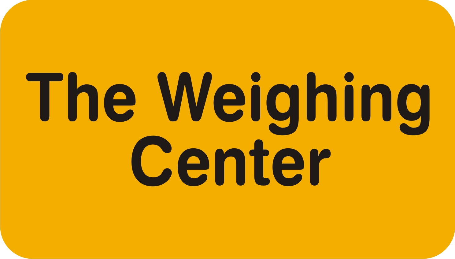 The Weighing Center